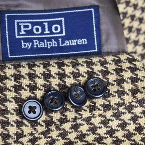 42L Polo Ralph Lauren Wool LINEN Brown Woven COAT
